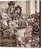 Knave Before The King And Queen Of Hearts Illustration To Alice S Adventures In Wonderland Canvas Print