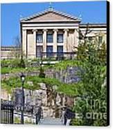 Museum Of Art Philadelphia Pa Canvas Print by David Zanzinger