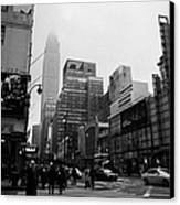 Pedestrians Crossing Crosswalk Outside Macys 7th Avenue And 34th Street Entrance New York City Canvas Print