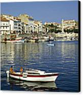 Port Vendres Harbour France 1980s Canvas Print