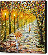 Rainy Autumn Beauty Original Palette Knife Painting Canvas Print