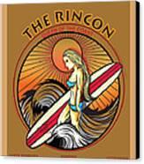 Rincon Ventura California Surfing Canvas Print by Larry Butterworth