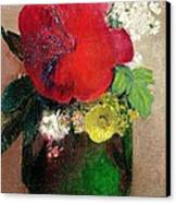 The Red Poppy Canvas Print by Odilon Redon