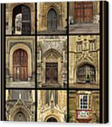 Uk Doors Canvas Print by Christo Christov