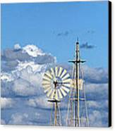 Water Windmills Canvas Print by Stelios Kleanthous