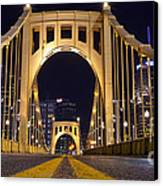 0304 Roberto Clemente Bridge Pittsburgh Canvas Print by Steve Sturgill