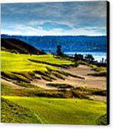 #16 At Chambers Bay Golf Course - Location Of The 2015 U.s. Open Tournament Canvas Print by David Patterson
