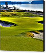 #17 At Chambers Bay Golf Course - Location Of The 2015 U.s. Open Championship Canvas Print by David Patterson