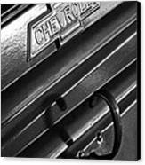 1937 Chevrolet Custom Pickup Emblem Canvas Print by Jill Reger