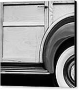 1940 Packard 120 Woody Station Wagon Wheel Emblem Canvas Print