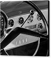 1951 Ford Crestliner Steering Wheel Canvas Print by Jill Reger