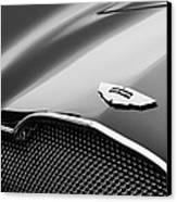 1953 Aston Martin Db2-4 Bertone Roadster Hood Emblem Canvas Print by Jill Reger