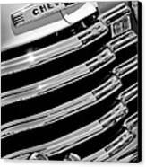 1956 Chevrolet 3100 Pickup Truck Grille Emblem Canvas Print