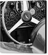 1957 Aston Martin Dbr2 Steering Wheel Canvas Print by Jill Reger