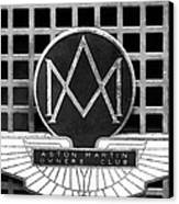 1957 Aston Martin Owner's Club Emblem Canvas Print by Jill Reger