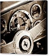 1960 Ferrari 250 Gt Cabriolet Pininfarina Series II Steering Wheel Emblem Canvas Print by Jill Reger
