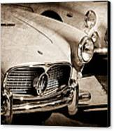 1960 Maserati Grille Emblem Canvas Print by Jill Reger