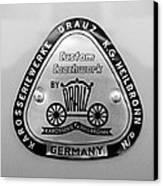 1960 Porsche 356 B 1600 Super Roadster Emblem Canvas Print