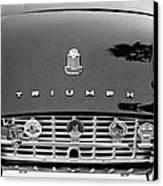 1960 Triumph Tr 3 Grille Emblems Canvas Print