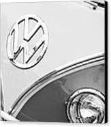 1960 Volkswagen Vw 23 Window Microbus Emblem Canvas Print by Jill Reger
