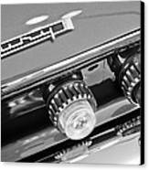 1962 Plymouth Fury Taillights And Emblem Canvas Print