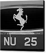 1963 Ferrari 250 Gto Scaglietti Berlinetta Grille Emblem Canvas Print