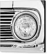 1963 Ford Falcon Futura Convertible Headlight - Hood Ornament Canvas Print by Jill Reger