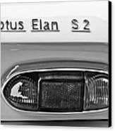 1965 Lotus Elan S2 Taillight Emblem Canvas Print by Jill Reger