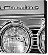 1967 Chevrolet El Camino Pickup Truck Headlight Emblem Canvas Print