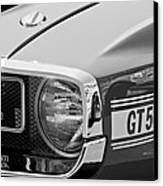 1969 Shelby Gt500 Convertible 428 Cobra Jet Grille Emblem Canvas Print by Jill Reger