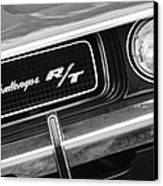 1970 Dodge Challenger Rt Convertible Grille Emblem Canvas Print by Jill Reger