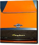 2009 Spyker C8 Laviolette Lm85 Grille Emblem Canvas Print by Jill Reger