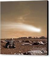 An Artists Depiction Of The Close Pass Canvas Print by Marc Ward