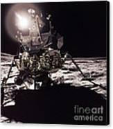 Apollo 17 Moon Landing Canvas Print by Science Source