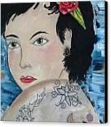Audra Canvas Print by Karen Carnow