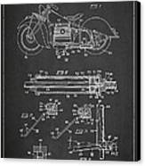 Automatic Motorcycle Stand Retractor Patent Drawing From 1940 Canvas Print by Aged Pixel