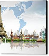 Background Travel Concept  Canvas Print