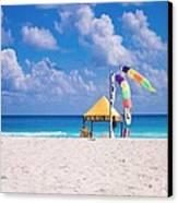 Beach Colors Canvas Print by Richie Stewart