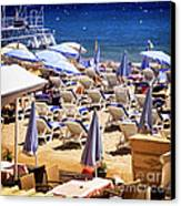 Beach In Cannes Canvas Print