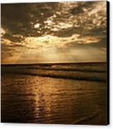 Beach Sunrise Canvas Print by Nelson Watkins
