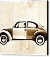 Beetle Car Canvas Print by David Ridley