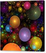 Billions Of Bubbles Canvas Print by Peggi Wolfe