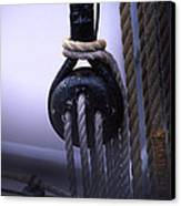 Block And Tackle Canvas Print by Barry Shaffer
