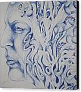 Blue Canvas Print by Moshfegh Rakhsha