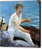 Boating Canvas Print by Edouard Manet