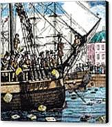 Boston Tea Party, 1773 Canvas Print by Granger