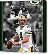Brett Favre Packers Canvas Print by Joe Hamilton