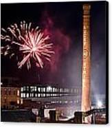 Bull Durham Fireworks Canvas Print by Jh Photos