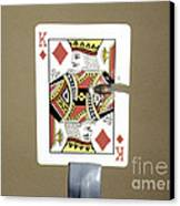 Bullet Piercing Playing Card Canvas Print by Gary S. Settles