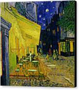Cafe Terrace Arles Canvas Print by Vincent van Gogh